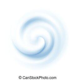 White Swirl Cream Texture Background. Vector illustration
