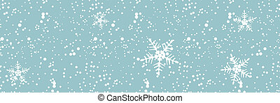 Winter blizzard, seamless backgroun