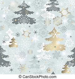 Winter repeating pattern
