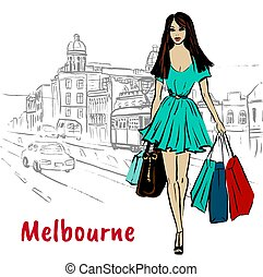 Woman in Melbourne Australia