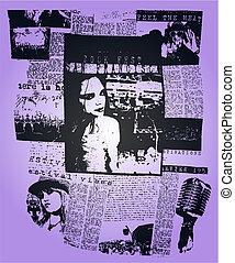 woman newspaper poster pop art design