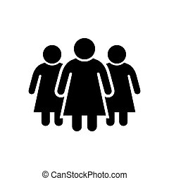 Women or female group glyph icon