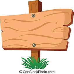 Blank wood sign
