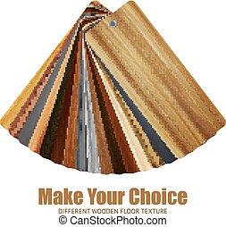 Wooden Color Palette Background