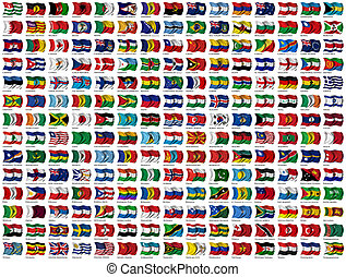 210 Flags of the World - every flag has its own clipping path with country name