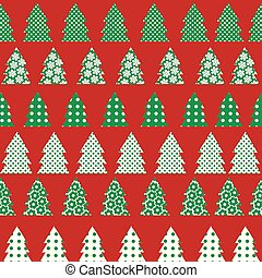 Wrapping paper for Christmas with Christmas tree