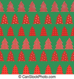 Wrapping paper for Christmas with red Christmas tree