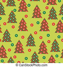 Wrapping paper for your Christmas, seamless pattern with flowers and patchwork