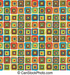 Wrapping paper with concentric squares