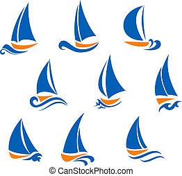Yachting and regatta symbols