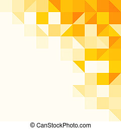Triangle and Square pattern in yellow and orange colors