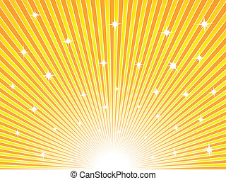 Abstract yellow and orange sunny vector background