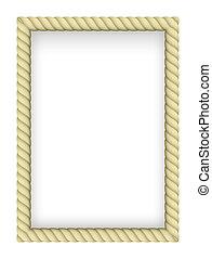 Yellow Rope Border. Illustration on white background