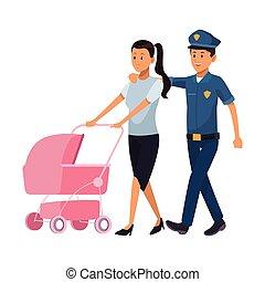young mother cartoon