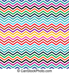 Seamless colorful geometric ethnic zigzag pattern in retro colors