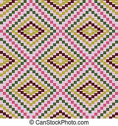 Zigzag pattern of geometric shapes